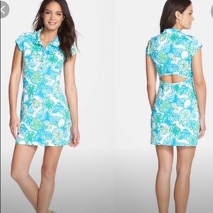 Lilly Pulitzer Rayna Polo Dress Cutout Floral